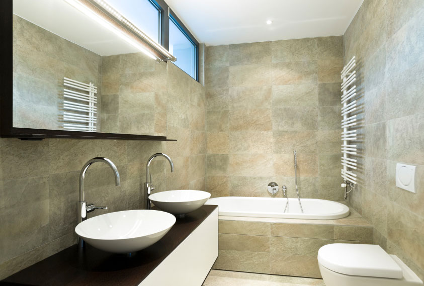 Average Cost To Tile A Bathroom Latand Bathroom Renovations - Average cost to fit a bathroom